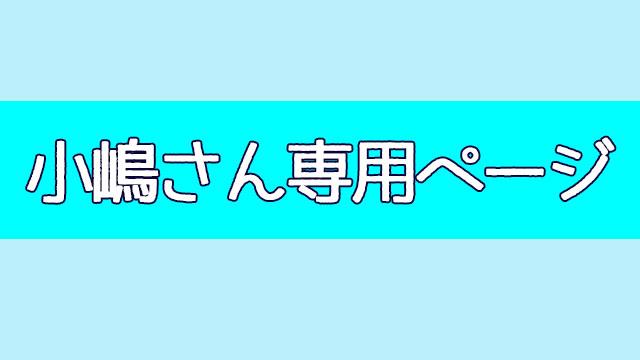 小嶋さん専用ページ